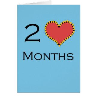 Anniversaire de 2 mois cartes
