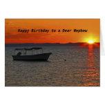 Anniversaire de bateau de pêche joyeux à un cher cartes