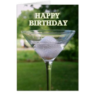Anniversaire de boule de golf de Martini Carte De Vœux