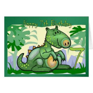 Anniversaire de carte de dinosaure de joyeux