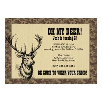 Anniversaire de chasse carton d'invitation  12,7 cm x 17,78 cm