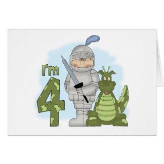 Anniversaire de chevalier de dragon 4ème cartes