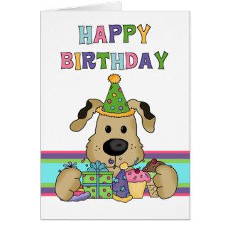 Anniversaire de chien carte de vœux