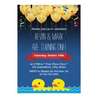Anniversaire de confettis et de ballons et de carton d'invitation  12,7 cm x 17,78 cm
