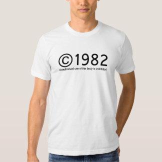 Anniversaire de Copyright 1982 T-shirts