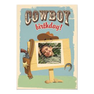 Anniversaire de cowboy carton d'invitation  12,7 cm x 17,78 cm