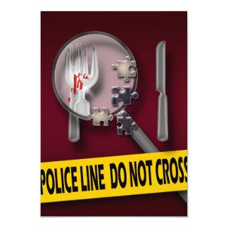 Anniversaire de crime de Bourgogne de meurtre et Carton D'invitation 12,7 Cm X 17,78 Cm