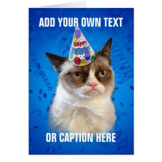 Anniversaire de Customizeable de chat grincheux Carte De Vœux