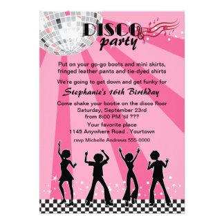 Anniversaire de danseurs de disco faire-part personnalisés
