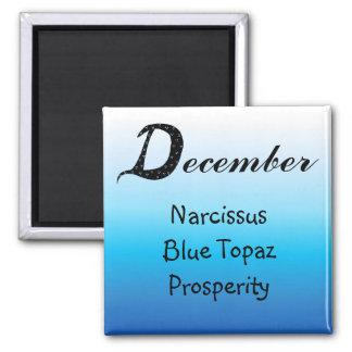 Anniversaire de décembre aimant