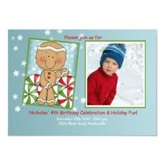 Anniversaire de décembre - invitation de photo