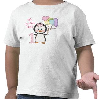 Anniversaire de fille de Cutie- de pingouin premie T-shirt