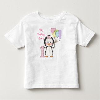 Anniversaire de fille de Cutie- de pingouin T-shirt Pour Les Tous Petits