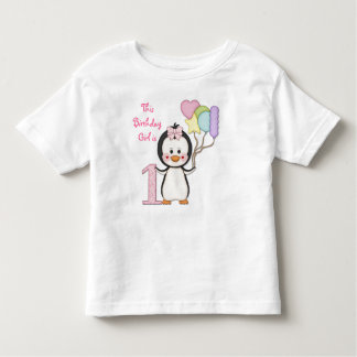 Anniversaire de fille de Cutie- de pingouin T-shirts