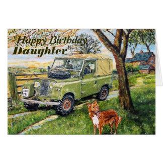 Anniversaire de filles de véhicule de 4x4 de carte de vœux