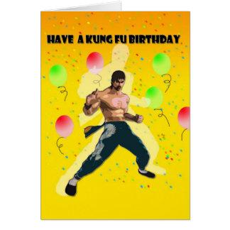 anniversaire de fu de kung carte de vœux