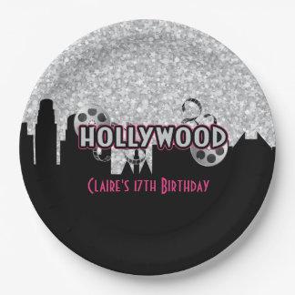 Anniversaire de Hollywood Assiettes En Papier
