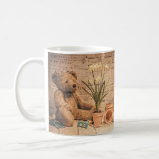 Anniversaire de jardinage d'ours de nounours ou mug blanc