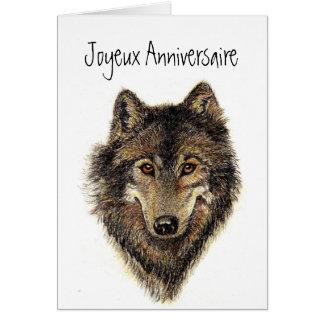 Anniversaire de Joyeux, loup, loups, sauvages, Carte De Vœux