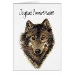 Anniversaire de Joyeux, loup, loups, sauvages, nat Carte De Vœux