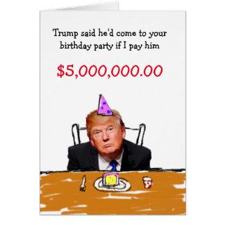Anniversaire de l'atout $5.000.000 carte de vœux