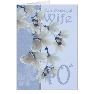 Anniversaire de l'épouse 40 - épouse de carte