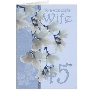 Anniversaire de l'épouse 45 - épouse de carte