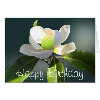 Anniversaire de magnolia de tennis joyeux cartes