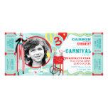 Anniversaire de marcheur d'échasse de carnaval et  faire-part personnalisé