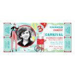 Anniversaire de marcheur d'échasse de cirque de carton d'invitation