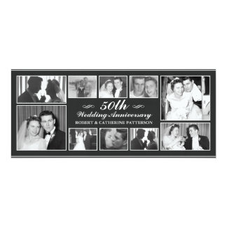 Anniversaire de mariage de célébration carton d'invitation  10,16 cm x 23,49 cm