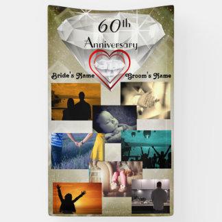 Anniversaire de mariage de diamant soixantième de banderoles