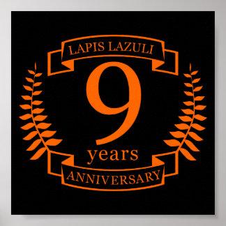 Anniversaire de mariage de lazulite de Lapis 10 Posters
