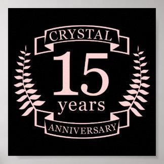 Anniversaire de mariage en cristal 15 ans posters