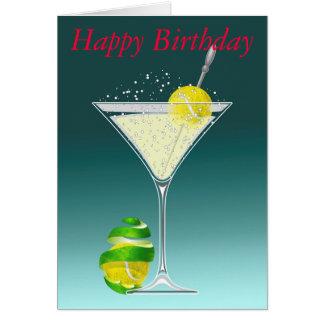 anniversaire de martini de tennis joyeux carte de vœux