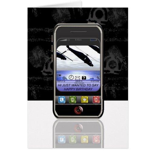 anniversaire de message textuel de téléphone porta cartes de vœux