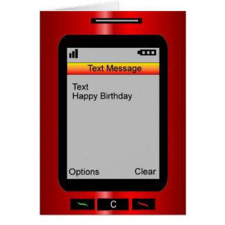 Anniversaire de message textuel joyeux carte de vœux