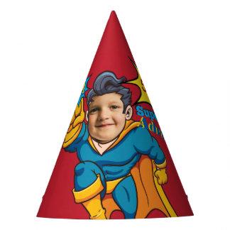 Anniversaire de modèle photo de super héros de chapeaux de fètes