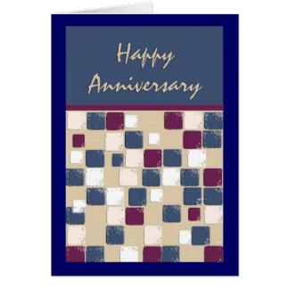 Anniversaire de mosaïque de danse carrée carte de vœux