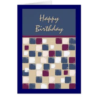Anniversaire de mosaïque de danse carrée cartes de vœux