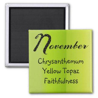 Anniversaire de novembre aimant