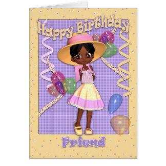 Anniversaire de petite amie d'Afro-américain Cartes