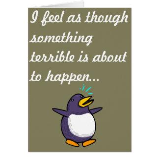 Anniversaire de pingouin carte de vœux
