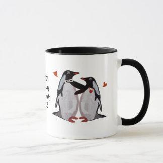 Anniversaire de pingouin cinquantième mugs