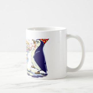 Anniversaire de pingouin mug