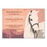 Anniversaire de poney de motif blanc de cheval bristol