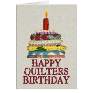 Anniversaire de Quilters Carte De Vœux