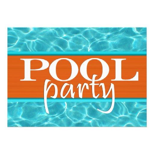 Anniversaire de r ception au bord de la piscine carton d - Piscine bassins anniversaire versailles ...