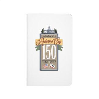 Anniversaire de Redwood City 150th Carnet De Poche