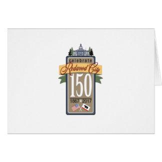 Anniversaire de Redwood City 150th Cartes